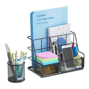 Orgowise Black Desk Organizer Set