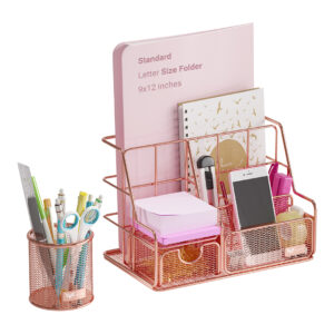 Orgowise Rose Gold Desk Organizer