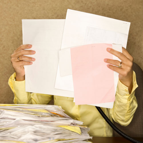 Get rid of personal papers!